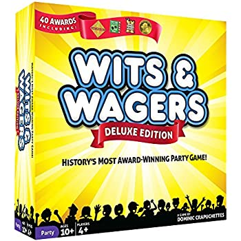 North Star Games Wits & Wagers Board Game | Deluxe Edition, Kid Friendly Party Game and Trivia