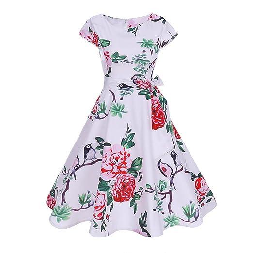 Amazon.com: Aurorax Women Dresses for Summer,1950s Sleeveless ...