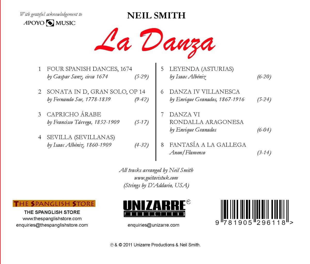La Danza - Spanish Guitar Classics: Neil Smith, Gaspar Sanz ...