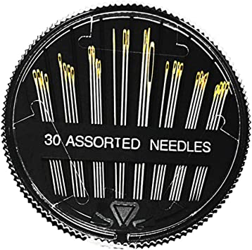 pack of  30 assorted sewing needles new dress making art