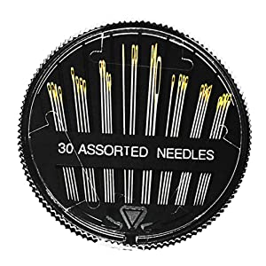 Premium Hand Sewing Needles for Sewing Repair, 30-Count Assorted Needles with 2 Threaders, by Meiho Lives