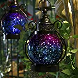 "Valery Madelyn Christmas Candle Lantern Holder Mercury Glass Sphere Light, Led Orb Lamps for Indoor Outdoor Decoration 6"" Diameter"