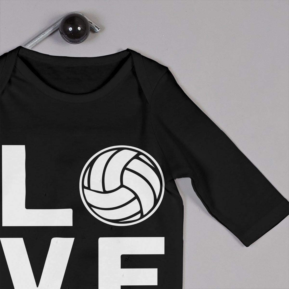 Love Volleyball Baby Girl Long Sleeve Bodysuit Baby Clothes Onsies