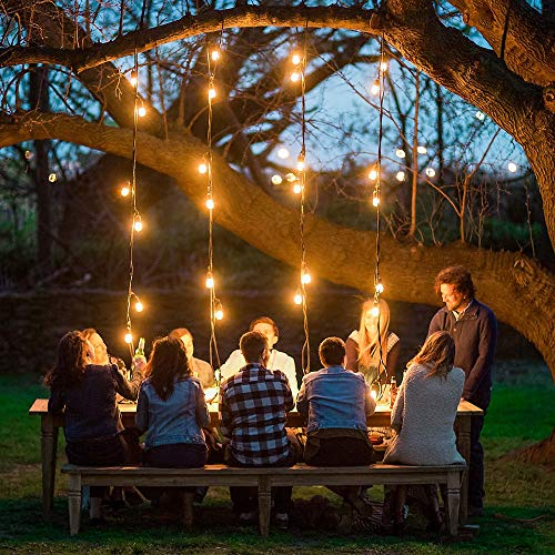 MZD8391 [Heavy Duty 48FT Commercial Grade Waterproof Outdoor Globe String Light, 18 Hanging Socket, 21 Dimmable Edison Vintage Bulb, for Backyard Patio, Garden (Warm White 48FT) by MZD8391 (Image #3)