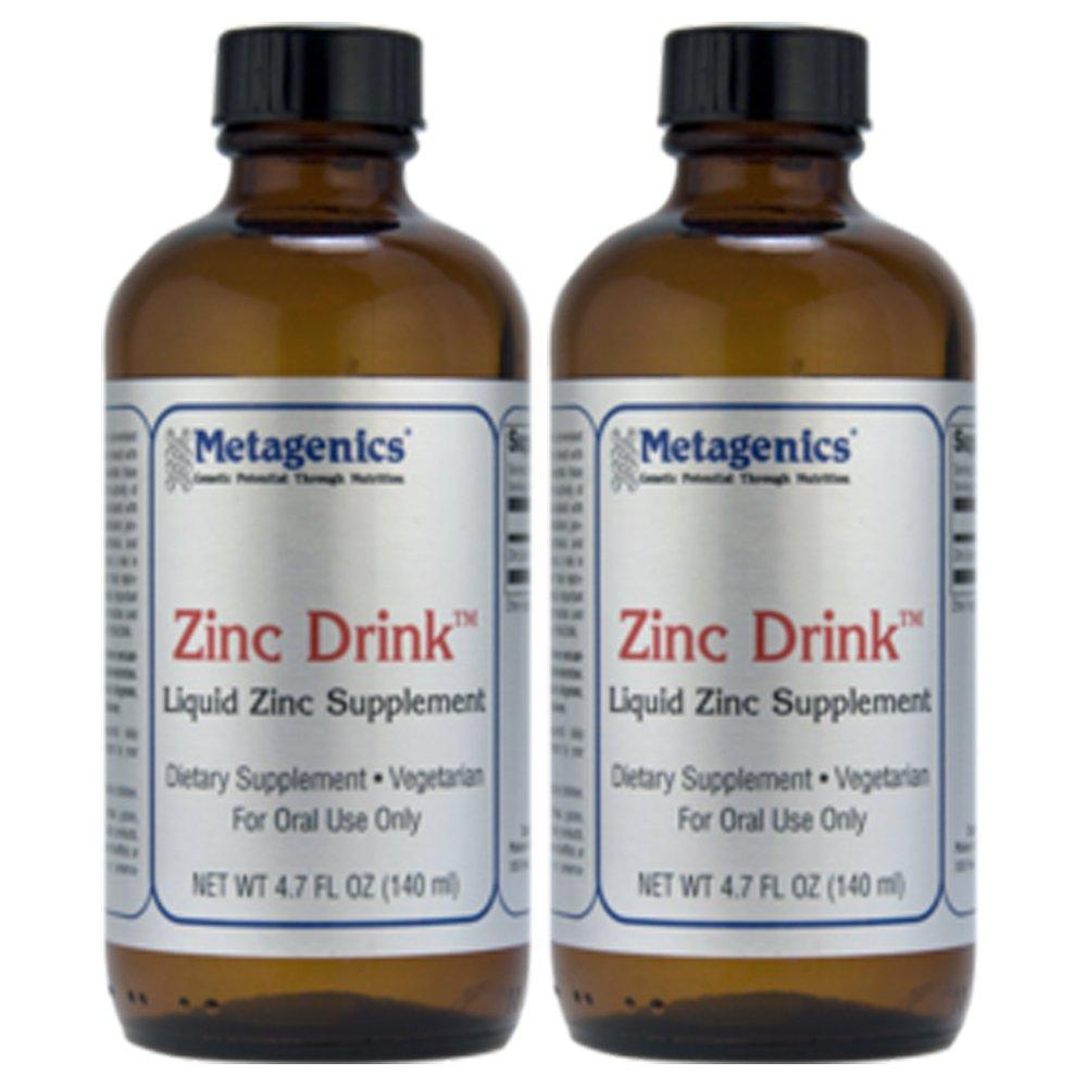 Metagenics Zinc Drink Liquid Zinc Supplement 4.7 fl. oz. (140 ml) Bottle (28 servings) - TwinPak