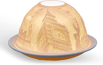 Light Glow Dome Tealight Holder Flamingos Candle Tea Light Home Decor Gift