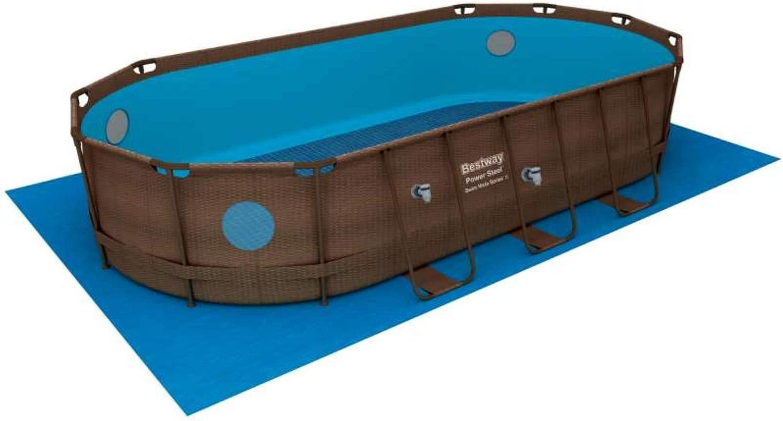 Bestway Power Steel Swim Vista Series Oval Suelo, Brown: Amazon.es ...