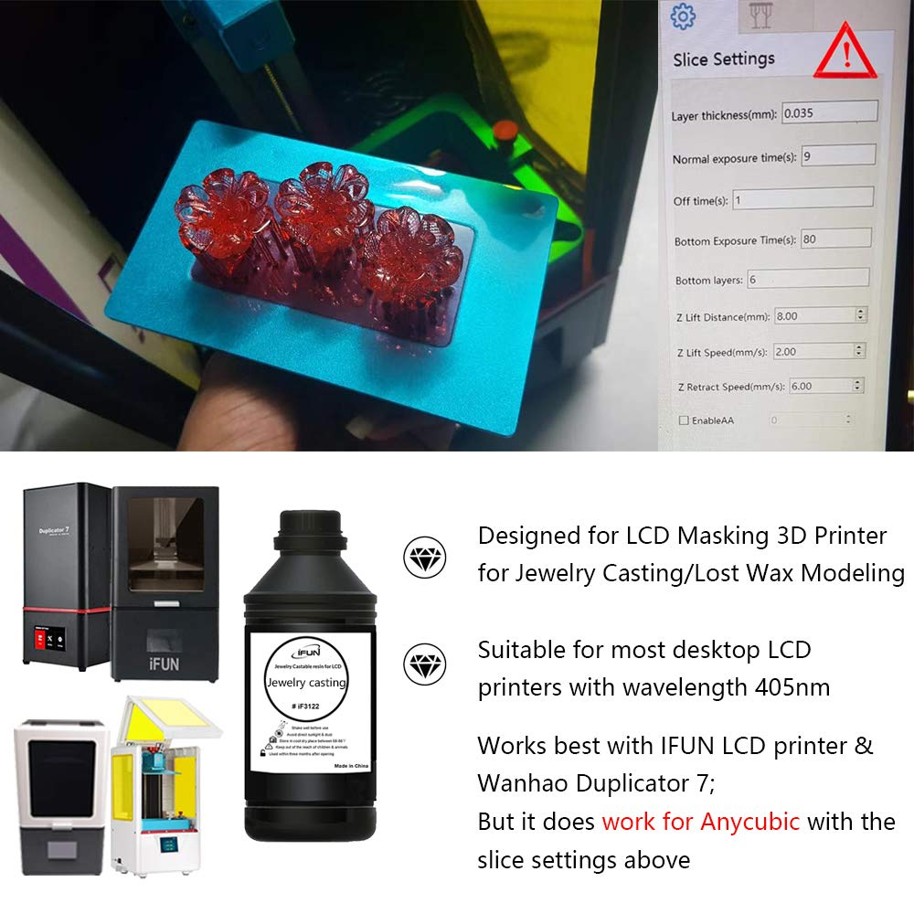 IFUN Jewelry Casting Resin For 405nm LCD 3D Printer