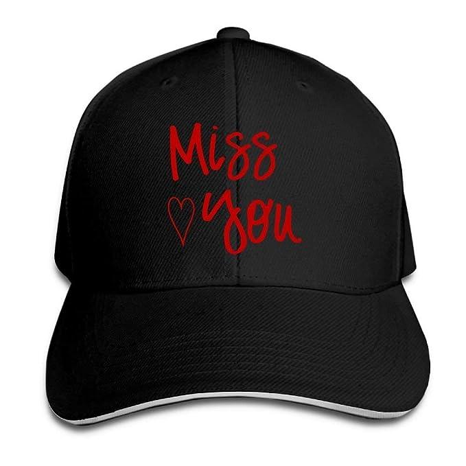 4b1616dc592 Man Boys Adjustable Truck Baseball Caps Sandwich Miss You Gym Hats ...