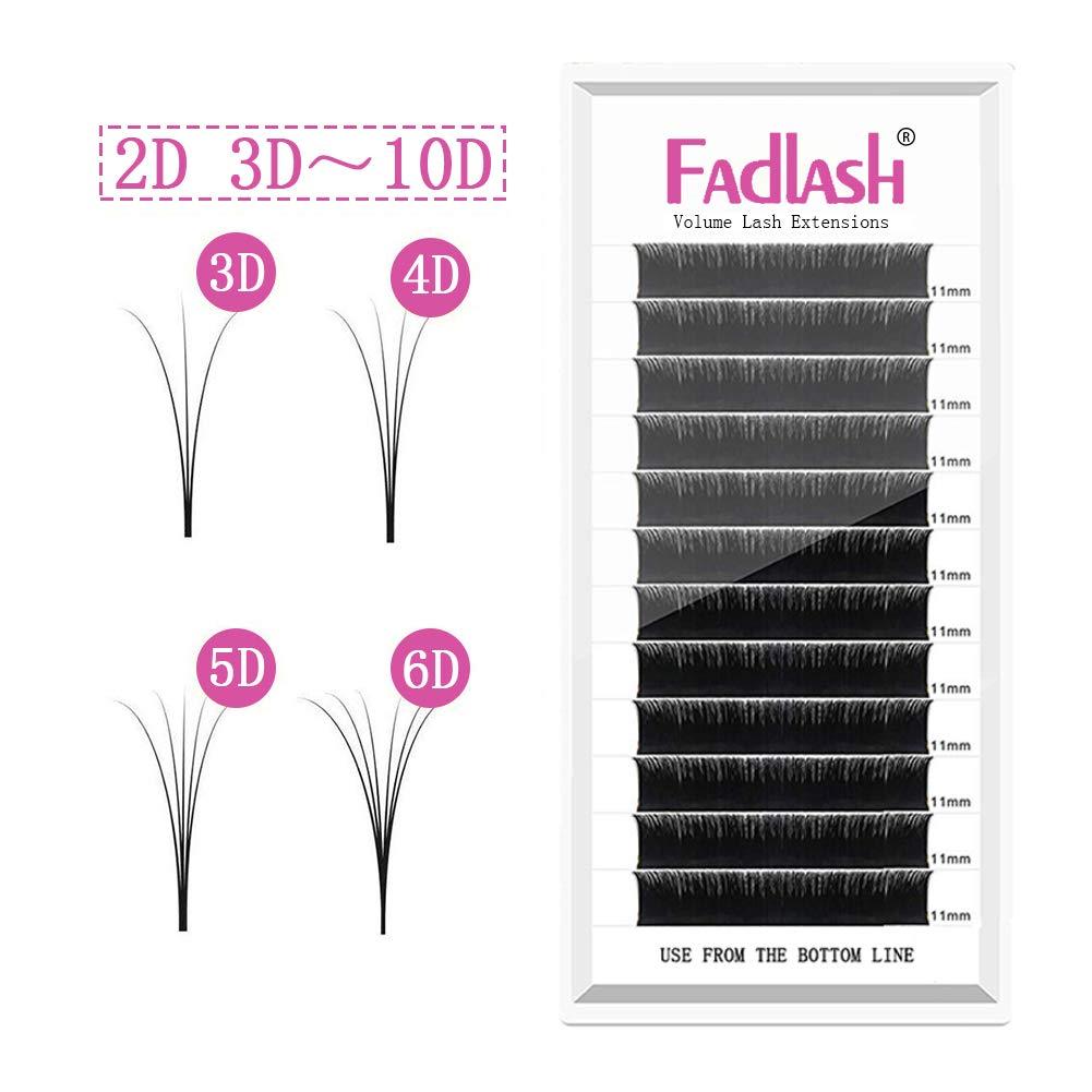 133f2d7e8df Amazon.com : Individual Lashes 3D~10D Any Fans D Curl 10mm 11mm 12mm 0.07mm  Volume Lash Extensions Rapid Blooming 5D 7D Professional False Eyelashes ...