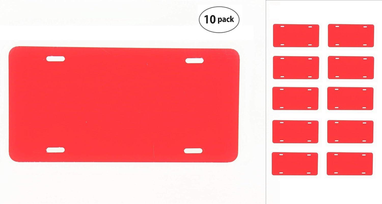 - 12x6 10 Pack-$4.49//Each Anodized Aluminum License Plate Blanks Heavy Gauge .040 Partsapiens Corp.. 1mm