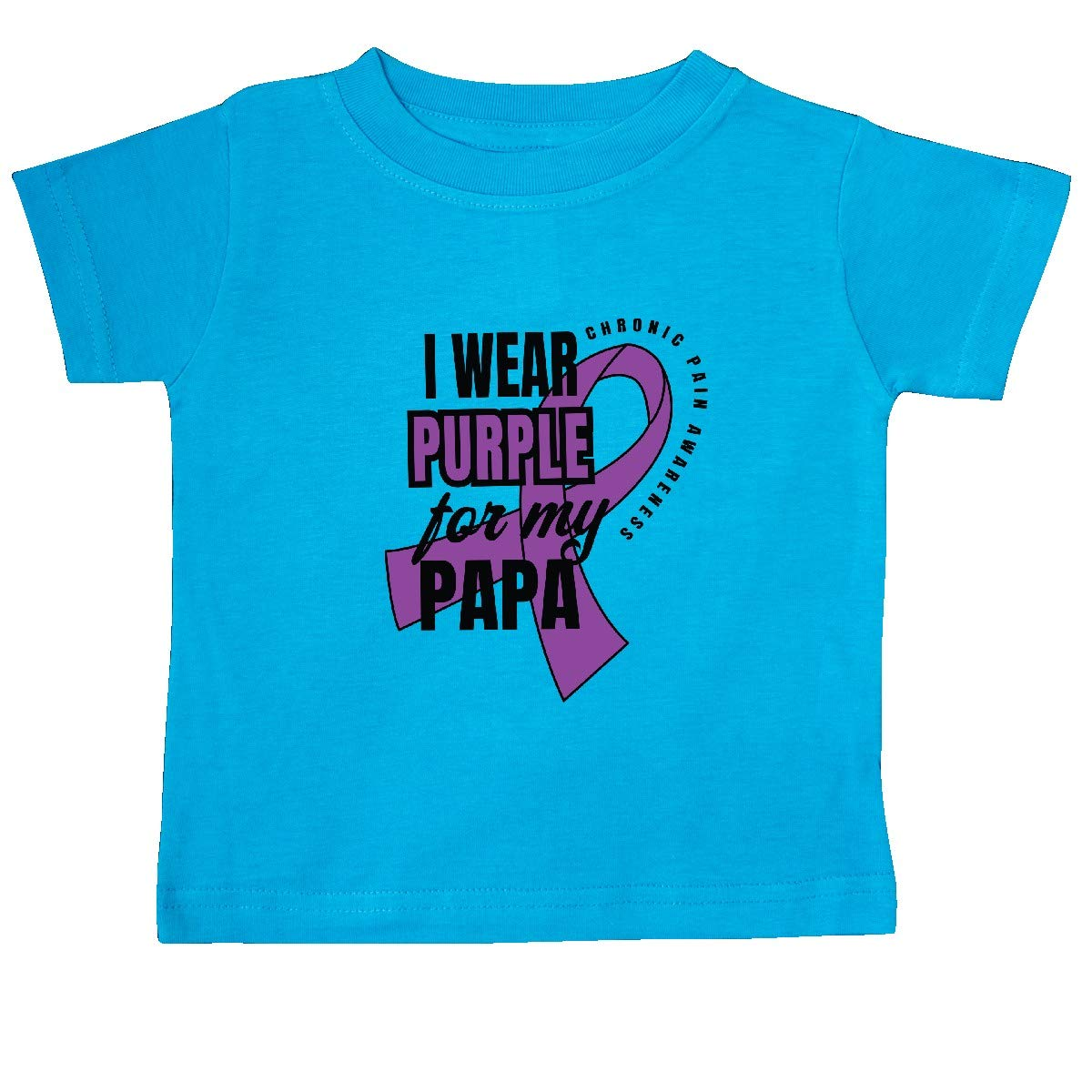 inktastic Chronic Pain I Wear Purple for My Papa Baby T-Shirt