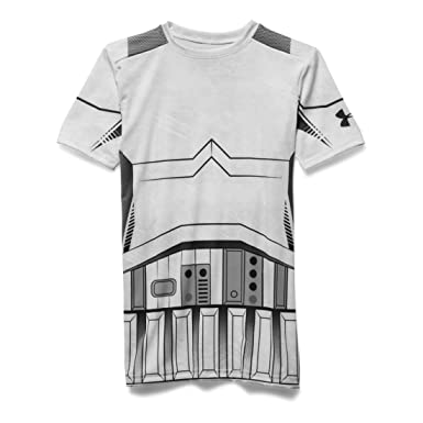 Under Armour Junior HeatGear Star Wars Trooper Short Sleeve Compression  Baselayer White and Grey JXL c8bc83189