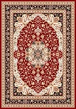 Persian-Rugs 2652 Oriental Burgundy 8 x 11 Area Rug Carpet Large New For Sale