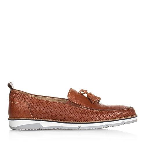 Castellanisimos C01303 Mocasines Piel Con Borlas Hombre Cuero - Color - CUERO, Tallas - 45: Amazon.es: Zapatos y complementos