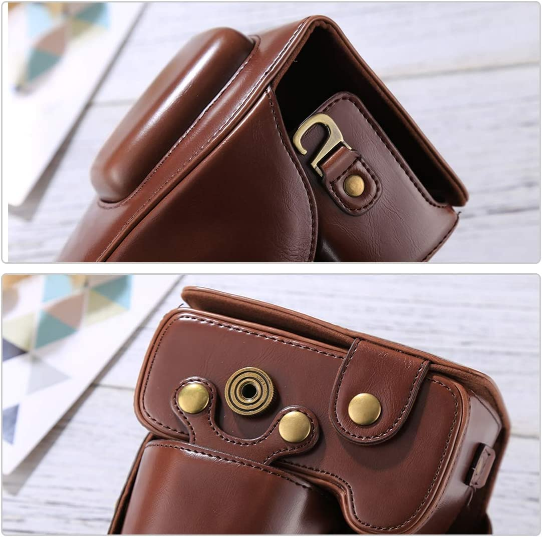 18-55mm // 18-105mm Lens D3300 ZQ House Full Body Camera PU Leather Case Bag for Nikon D3200 D3400 Color : Coffee