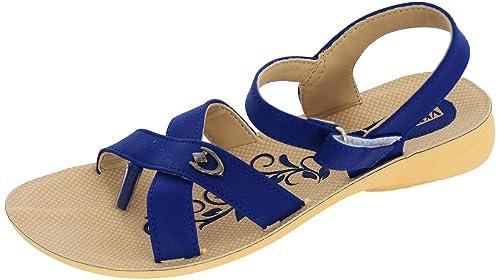 256588e1ace7d VKC Pride Women s Blue Synthetic Sandals - 6  Buy Online at Low ...