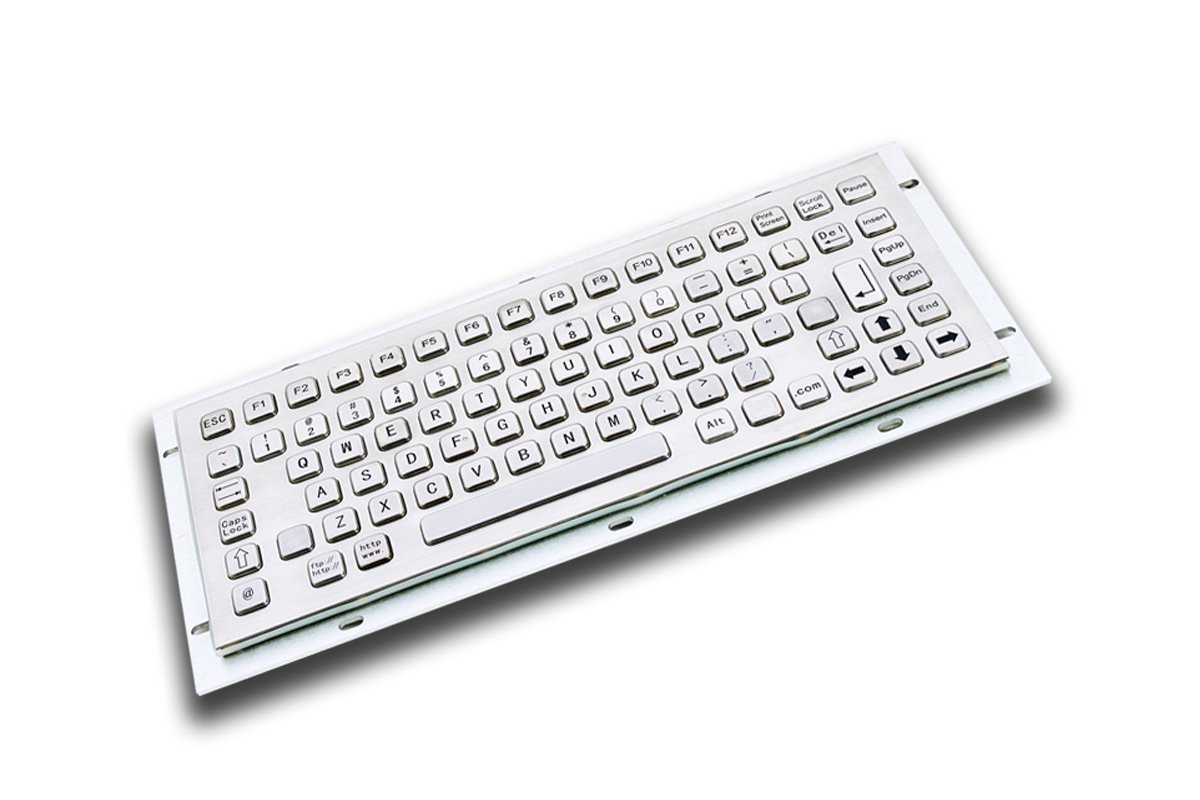 Amazon.com: Metal Industrial/Kiosk Keyboard - 86 keys- USB or PS2 interface  - Front panel: 319 x 135mm: Computers & Accessories