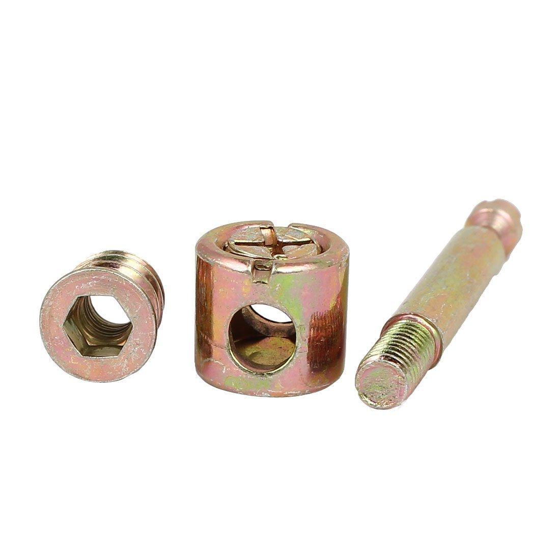 eDealMax meubles en métal Hex Key Drive Socket Cap Connexion 10pcs Couleur Bronze Montage