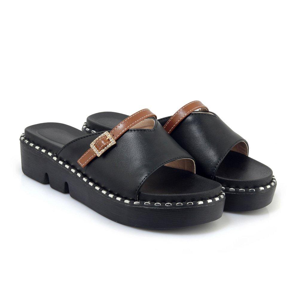 Sandales Chaussures décontractées pour Femmes, Chaussures à Talons, Sandales Pantoufles Noir Noir 8fdbe29 - latesttechnology.space
