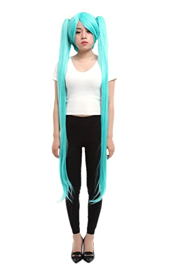 Lemail wig Womens 120 cm Long Women Blue Cosplay Wig