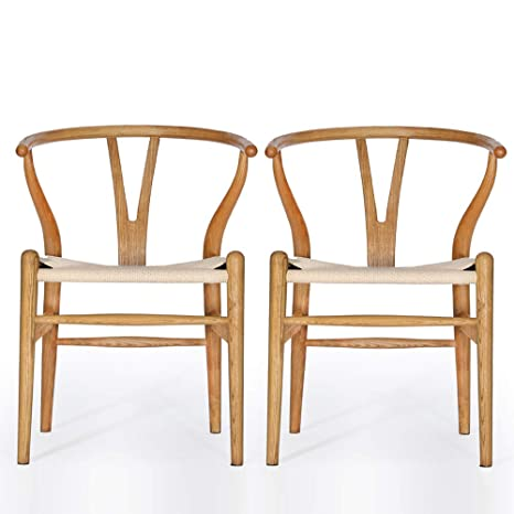 Phenomenal Vodur Wishbone Chair Natural Solid Wood Dining Chair Hans Wegner Y Chair Rattan And Wood Accent Armrest Chair Ash Wood Chair Set Of 2 Ash Wood Ibusinesslaw Wood Chair Design Ideas Ibusinesslaworg