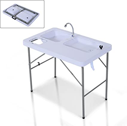Amazon.com : New MTN-G Portable Folding Fish Cleaning ...
