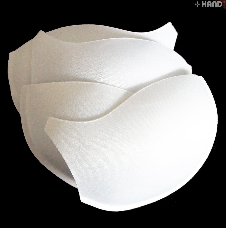 assortiti Taglie 710-80 Taglia M HAND Bianco Cucire In Reggiseno push-up Coppa Pad//Bra Making 2 coppie