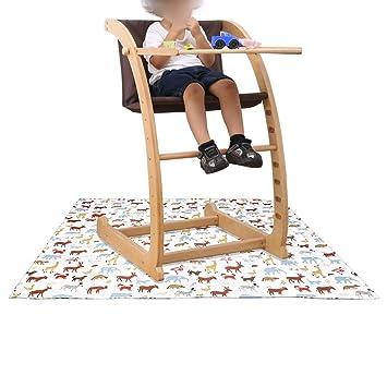Amazoncom Sumnacon Baby Splat Mat For Under High Chair Floor