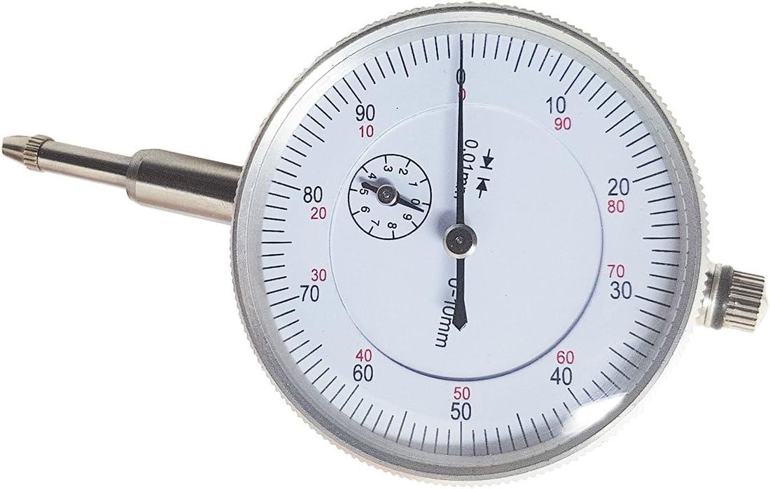 Comparador centesimal a reloj 0–10mm Resolución 0,01mm para base magnético