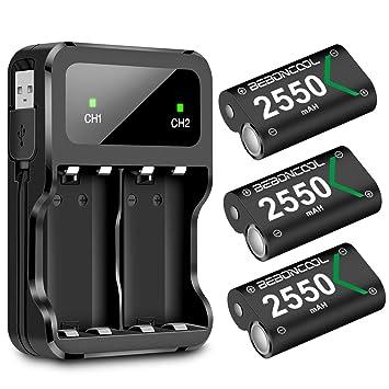 BEBONCOOL - Batería para Mando de Xbox One (3 Unidades, 2550 ...