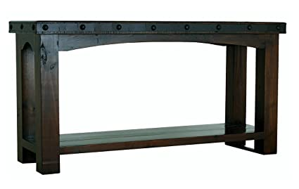 Fabulous Amazon Com Rustic Gran Hacienda Sofa Table Real Solid Wood Download Free Architecture Designs Lukepmadebymaigaardcom