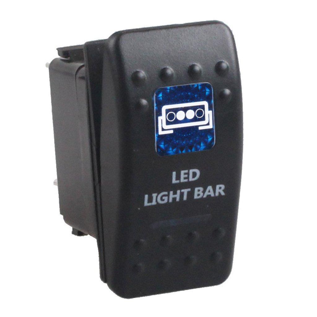 12V 24V Interruptor Palanca Led Azul Impermeable 5 Pins para Barco Coche