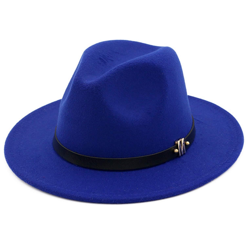 Hot Solid Color Fedoras Autumn Man Woman Top Cap Womens Felt Hat Wide Brimmed Jazz Vintage Hats