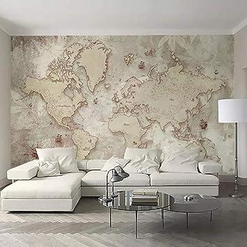 Papel Pintado Fotomural Mapa del mundo Fondo de Pantalla 3D ...