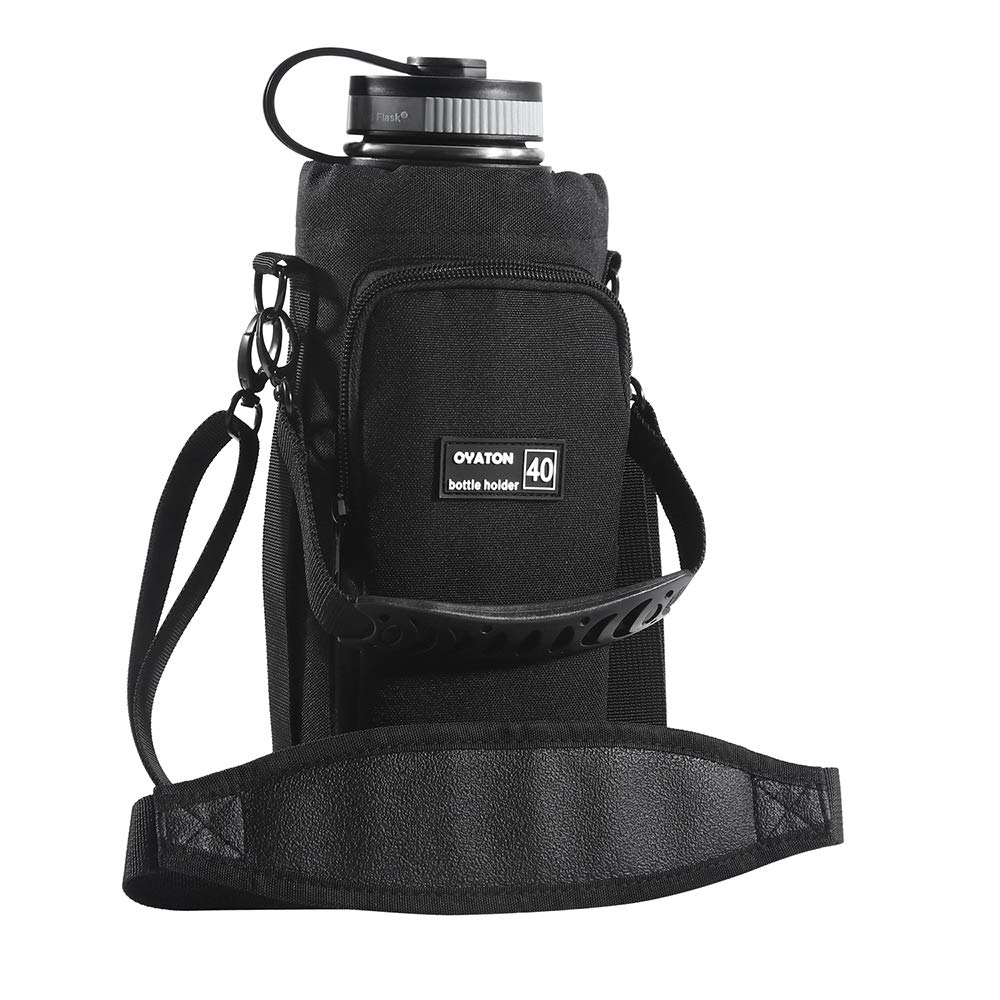 Insulated Water Bottle Holder with Shoulder Strap, 40 oz Water Bottle Carrier Bag with Pocket for Daily Walking, Hiking Trip and Outdoor Recreation Activities, Keep Drinks Cold or Hot(Exclude Bottle)