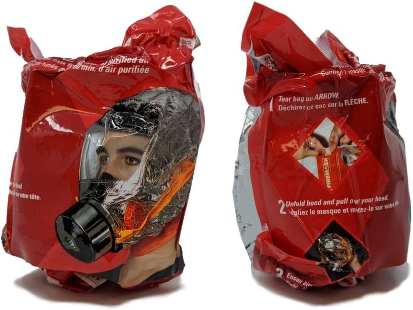 FireMask RPD60 with Firegloves – Escape a Fire Safely – Emergency Respiratory Protective Device Against Smoke, Carbon Monoxide and Toxic Fumes
