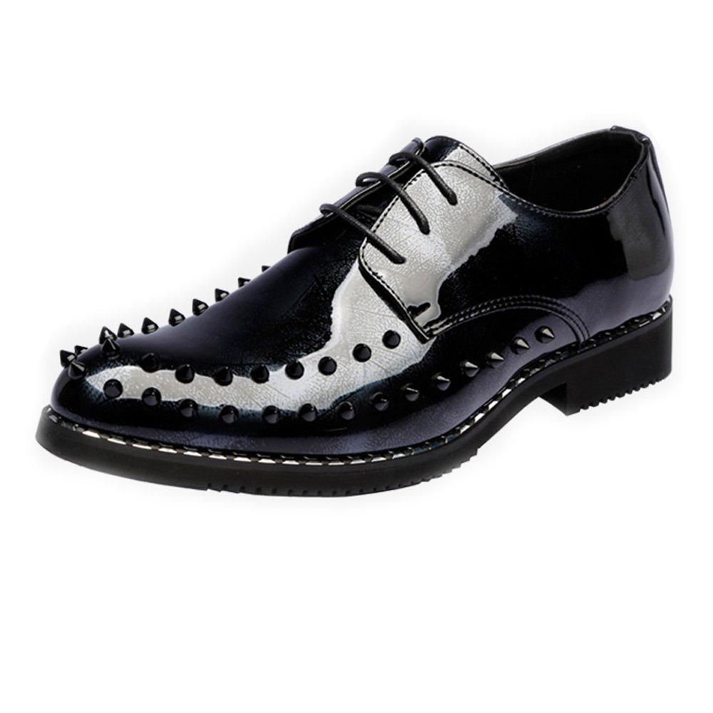 744e55b16b93f Zapatos de Cuero de los Hombres Hombres Hombres Zapatos Estilo Punky Suave  Cuero de la PU ...