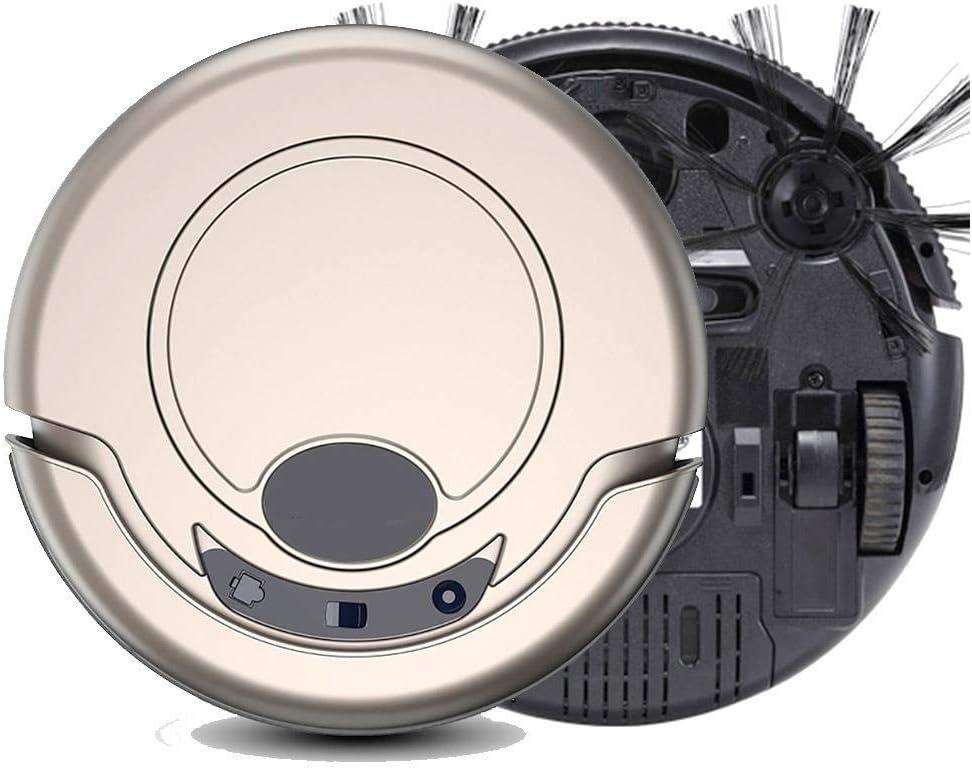 Aspirateur Robot Intelligent Nettoyage sans Fil Automatique aspirateur balayeuse Sol Humide avec 3 Modes de Nettoyage pour la Maison, Or Clair Light Gold