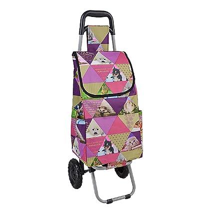 Carro de compras, ruedas portables + Bolsos de compras Carros portables, carros de compras