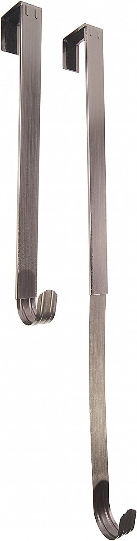 Adjustable Length Wreath Hanger - Brushed Nickel