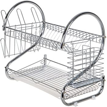 Amazon.com - TMS Chrome 2 Tiers Dish Drying Rack Drainer