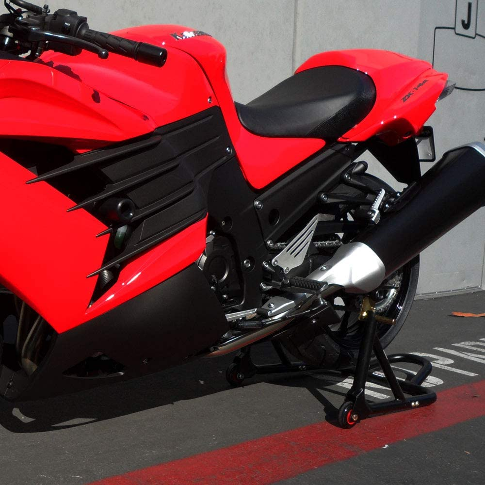Shogun 2012-2019 Kawasaki ZX14R ZX14 2011-2013 Ninja 1000 Ultra Compact Swingarm Spools - Sliders - Black - 701-0759 - MADE IN THE USA