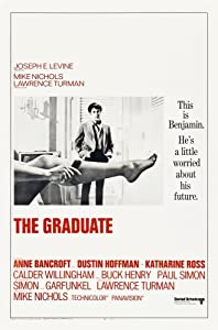 Posterazzi EVCMSDGRADEC005H The Graduate Us Dustin Hoffman 1967 Movie Poster Masterprint, 11 x 17
