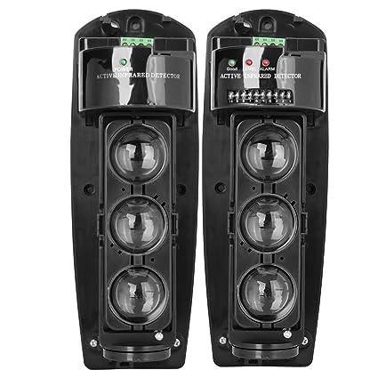 Detector IR de Seguridad, Triple Haz Fotoeléctrico Alarma de Seguridad en el Hogar Detector de