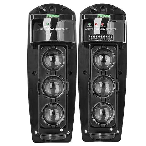 Detector IR de Seguridad, Triple Haz Fotoeléctrico Alarma de ...