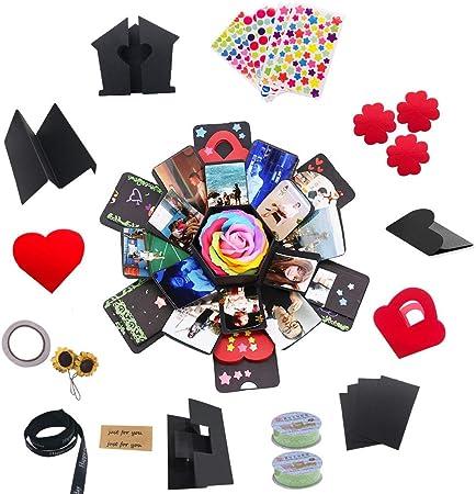 MKWEY Caja de Regalo de explosión Hexagonal de 5 Capas y 6 Lados Caja de Regalo innovadora Caja de álbum de Fotos DIY: Amazon.es: Hogar