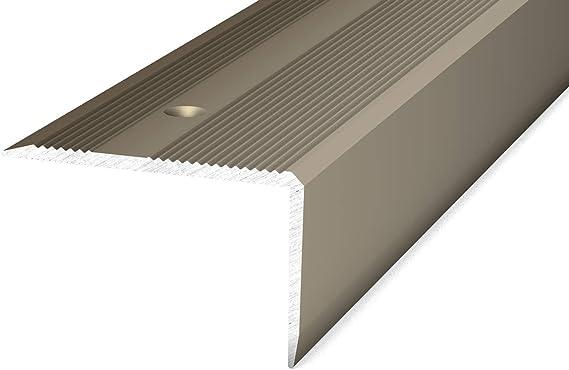Prinz 293 - Perfil para bordes de escaleras, 40 x 25 mm, 1,00 m, color plateado: Amazon.es: Bricolaje y herramientas