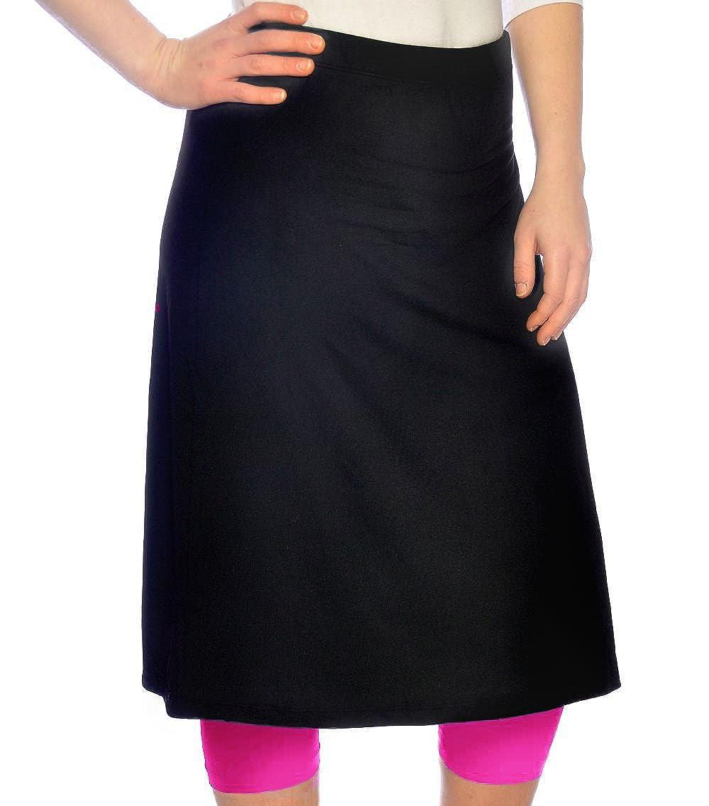 Kosher Casual Women's Modest Knee Length Sports Skirt with Leggings 1440-AXS-BK-$P