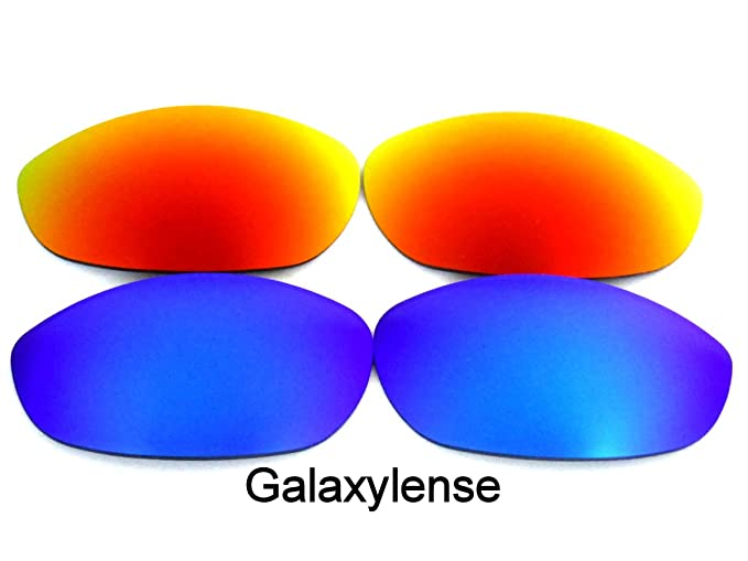 9bde10ff4b Amazon.com  Galaxylense Replacement Lenses for Oakley Monster Dog Blue Red  Color 2 Pairs